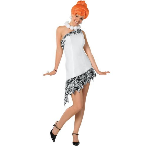 The Flintstones Wilma Costume,White, Medium -