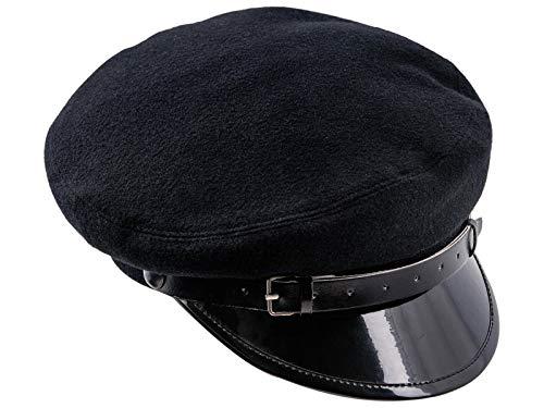 (Sterkowski Wool Cloth Peaked Breton Style Maciejowka Cap US 7 1/4 Black)