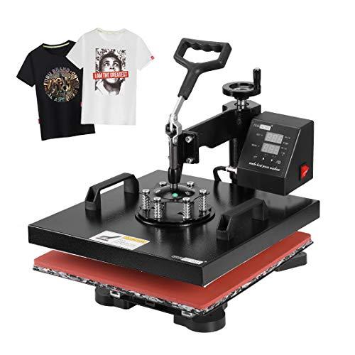 VIVOHOME Swing Away Clamshell Printing Heat Press Transfer Machine for T-Shirt 15 x 15 Inch