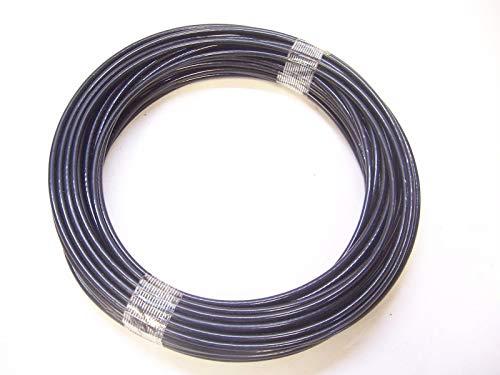Black Nylon Coated Cable,1/8