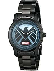 Marvel Mens Agents of SHIELD W001649 Analog-Quartz Black Watch