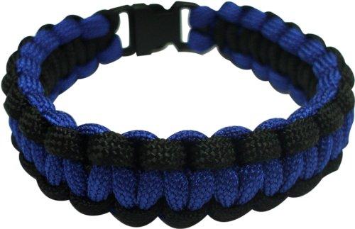 - Southern Homewares Paracord Bracelet, 8-Inch, Blue and Black