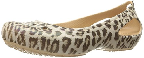 Crocs Women's Kadee Graphic W Flat, Leopard, 7 M US