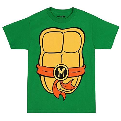 Teenage Mutant Ninja Turtles TMNT Michelangelo Costume T-Shirt-X-Large