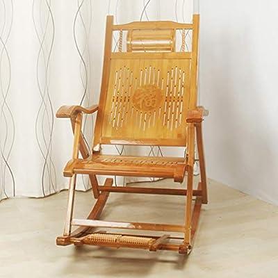 SjYsXm-tumbonas Silla Mecedora de bambú para Exterior Silla ...
