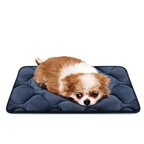 Dog Bed Mat Washable - Soft Fleece Crate Pad - Anti-slip Matress for Small Medium Large Pets (Grey XS) by HeroDog