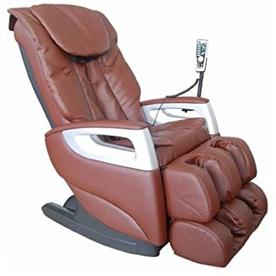 Cozzia EC366 Leather Shiatsu Spa Massage Chair - Brown by Cozzia