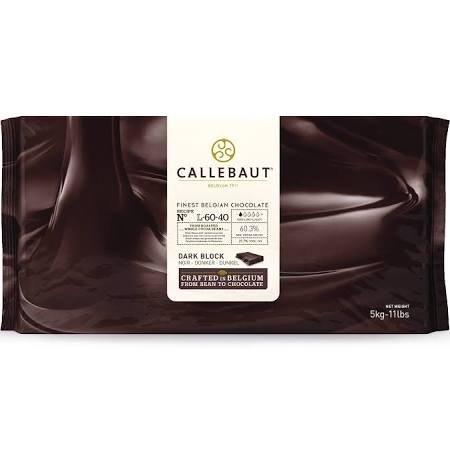 Callebaut L-60-40 Belgian Dark Chocolate Baking Block 60.6%, 1 Block / 11 pounds by Callebaut
