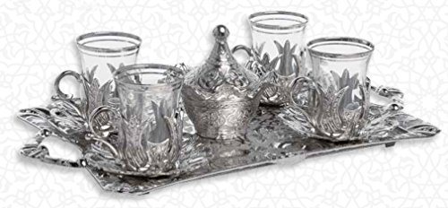 HIGH END Silver plated Tea Service Set for 6 - Made in Turke