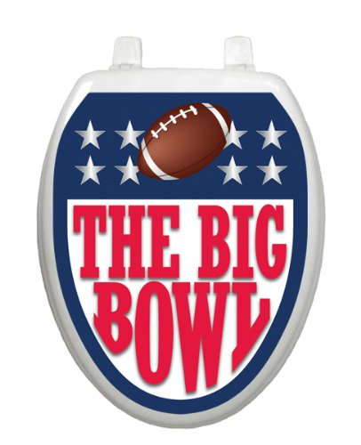 Toilet Tattoos, Toilet Seat Cover Decal, Big Bowl Football, Size Elongated