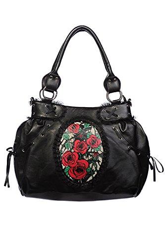 Banned-Roses-Cameo-Black-Shoulder-Bag