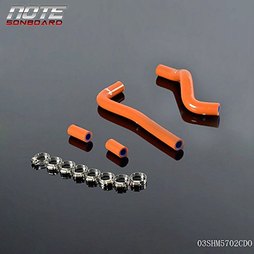 Generic Silicone Radiator Coolant Hose Clamps For Honda CRF150 CRF 150 2007-2009