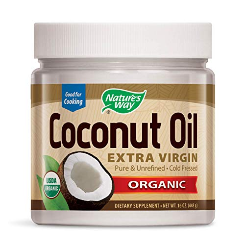 Nature's Way Organic Extra Virgin Coconut Oil- Pure, Cold-pressed, Organic, Non-GMO, Gluten-free- 16 Ounce (Coconut Oil Gmo Non)