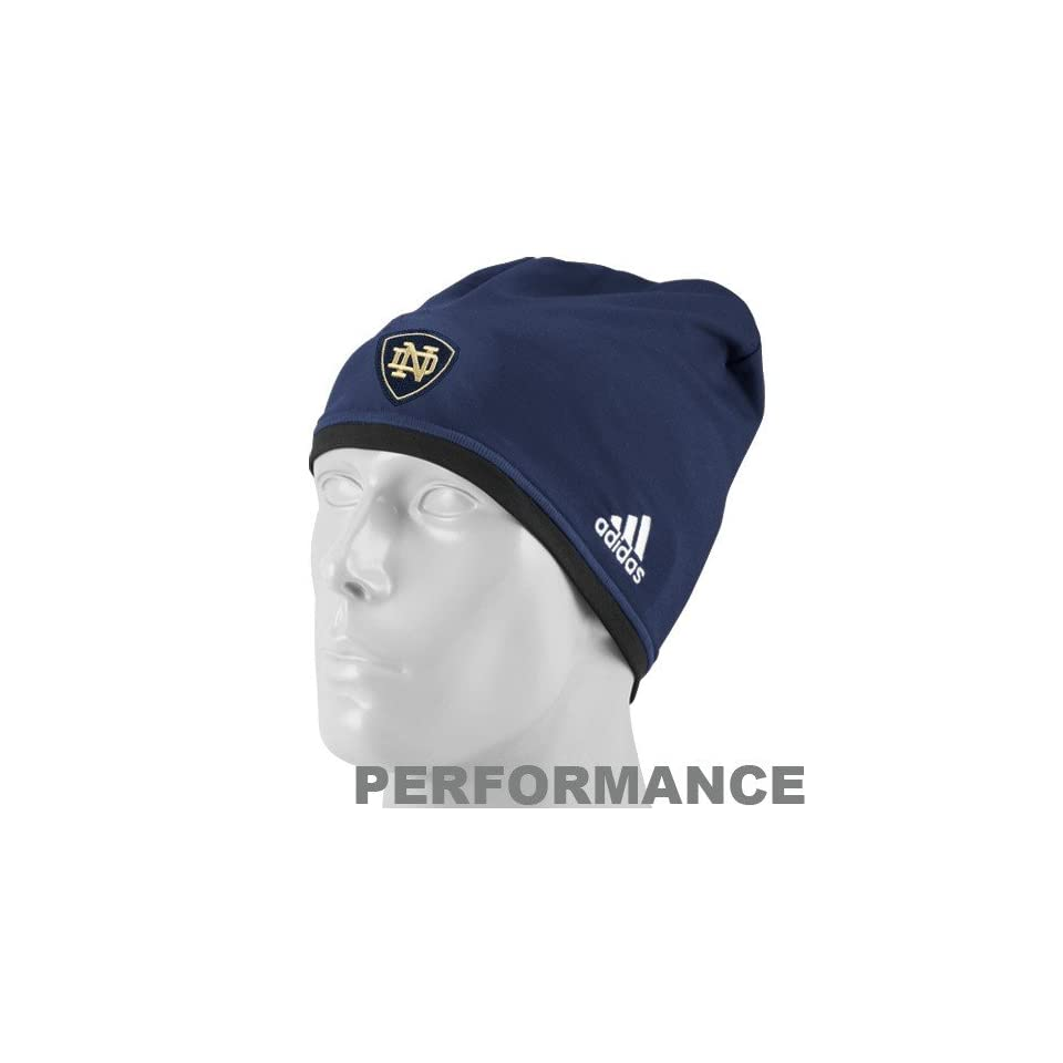 adidas Notre Dame Fighting Irish Navy Blue Reversible ClimaLite Performance Beanie