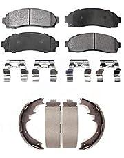 Front Rear Ceramic Brake Pads And Drum Shoes Kit For Ford Ranger Mazda B2300 B3000 B4000