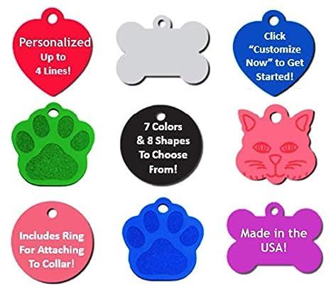 Amazon.com: Pet ID Tag perro y gato personalizado | muchas ...