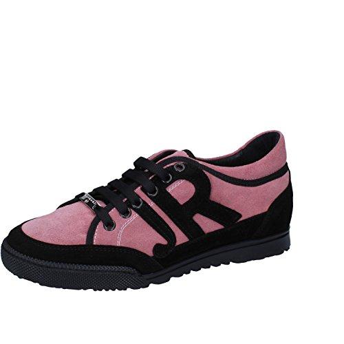 Pelle Donna Rosa Scamosciata Sneaker Richmond w4574