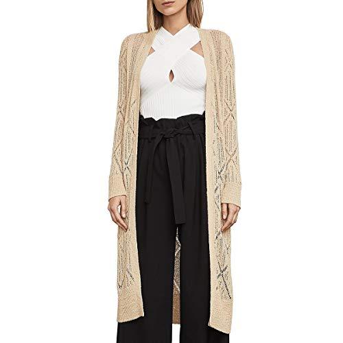 BCBG Max Azria Womens Charlee Knit Duster Cardigan Sweater Tan XS