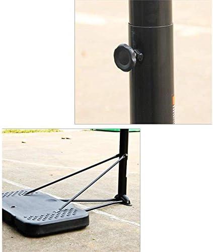 十代のバスケットボールのフープの高さ調節可能245-305cm車輪付きバスケットボールスタンド大人の屋外トレーニングバスケットボールゲームに最適