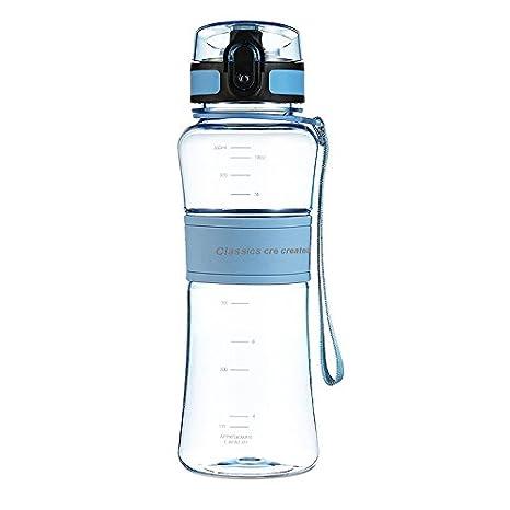 Hongyu Bottles 18 oz Tritan Sport Water Bottle Eco Friendly /& BPA Free Cycling Plastic Bottle with Leak-Proof One-Click Flip Top Open Ideal for Outdoor Traveling Yoga Camping Biking /&Jogging Shenzhen HongYu digital technology co LTD
