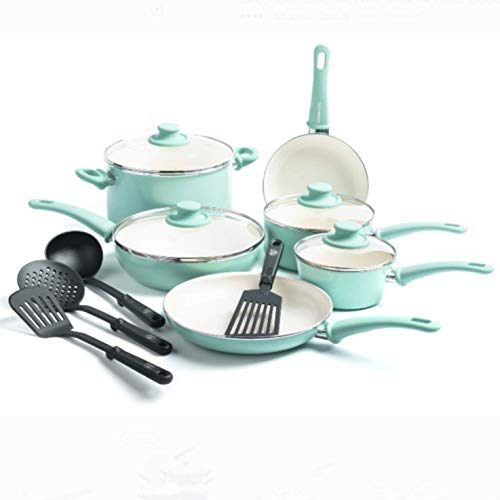 Green Kitchen Jeddah: GreenLife Everyday Value 12pc Ceramic Non-Stick Cookware