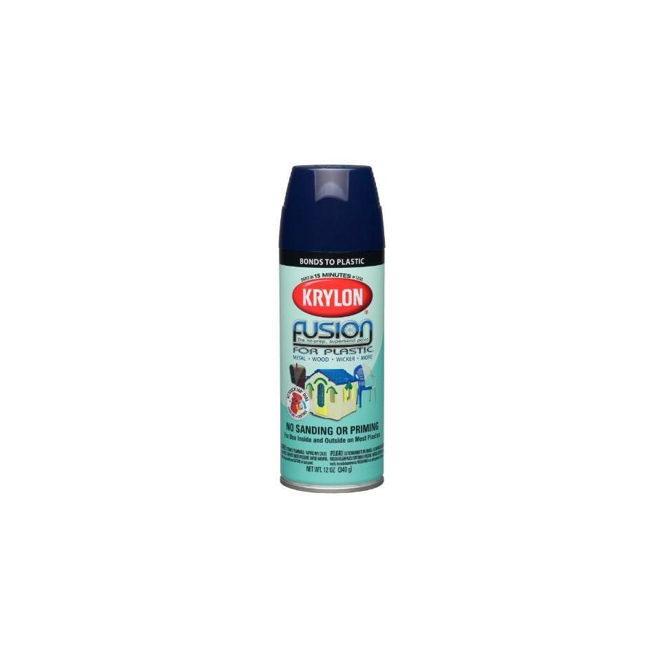 Krylon K02326000 Fusion For Plastic Aerosol Spray Paint, 12 Ounce, Navy