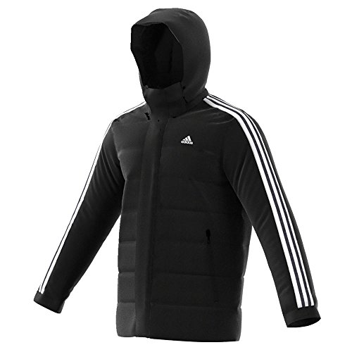 adidas All Weather Itavic 3-Stripe Black/White Water Repellant Jacket Sz: L