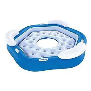 Multijugador Agua Hinchable Fila flotante Azul y blanco ...