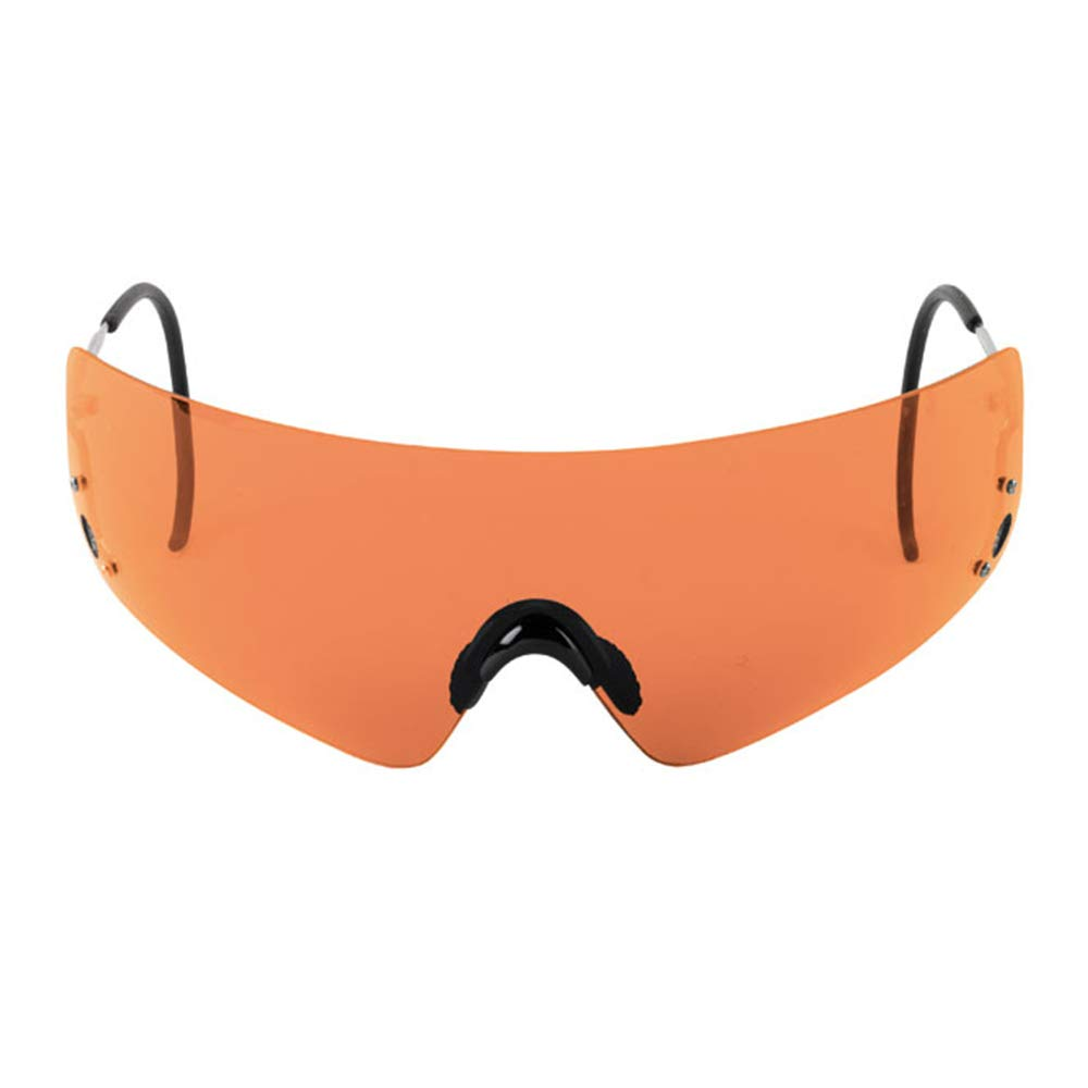Beretta Dedicated Metal Frame Shooting Glasses for Eye Protection - Tactical Eyewear with Wrap Around Design - Sharp Shooter Safety Glasses - Hard Case & Cleaning Soft Bag Included, Orange Lens by Beretta