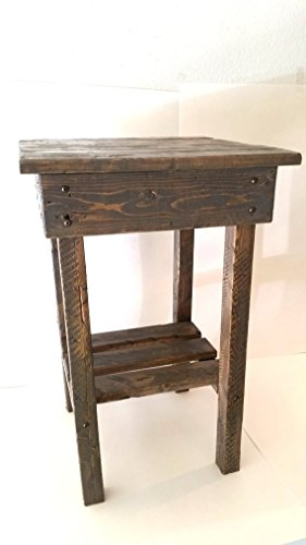 Cheap Night Stand/ End Table/Rustic End Table/Rustic Side Table/Bedside Table/Aged/Vintage End Table/Handmade/Custom New Materials/Farmhouse Table
