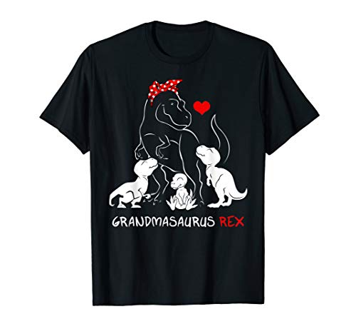 Grandmasaurus T Shirt I happy have Three Dino kid shirt gift ()