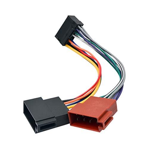 MASO 16 Pin Car Stereo Radio Lead Loom ISO Wiring Harness Connector Adaptor: