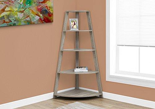 - Monarch Specialties I 2424 Dark Corner Accent Etagere Bookcase, 60