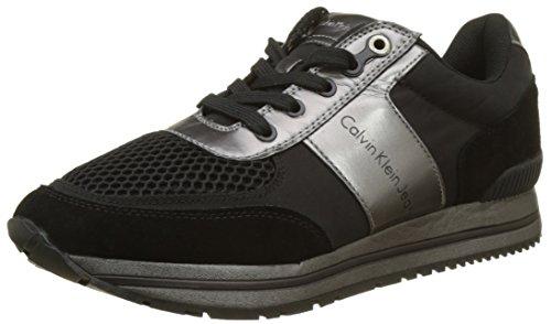 Calvin Klein Estez Suede/Nylon/Metal Smooth, Sneaker Uomo Multicolore (Black/Pewter)
