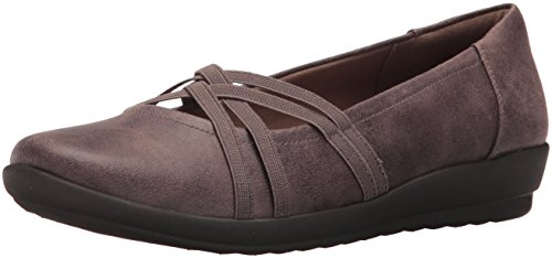 Aubree2 Women's Flat Taupe Easy Dark Taupe Spirit Dark Fabric 5Eq0qxt7w