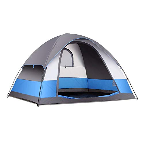 SEMOO Family Dome Tent for Camping, Water Resistant 5 Person 3-Season Lightweight with Carry Bag