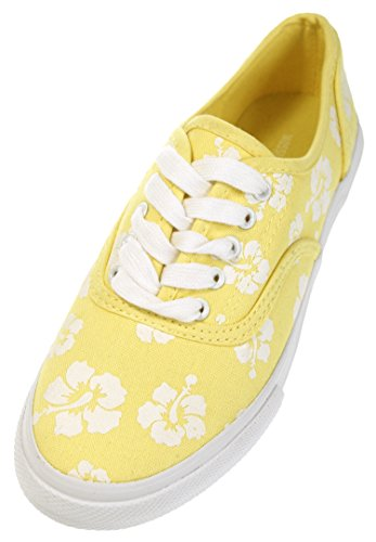 Women's Mossimo Lucretia Yellow Canvas Sneaker (8US Womens)