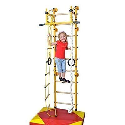 """""""M2"""" Échafaudage grimpant Espalier Équipement de gymnastique enfants Jaune, max. Charge admissible 130 kg"""