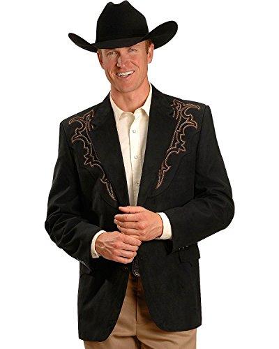 Circle S Men's Galveston Sport Coat Reg, Tall Black 46 R (Western Jackets For Men)
