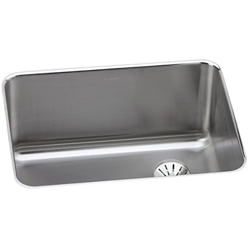 Right Rear Drain - Elkay Lustertone ELUH231710RPD Single Bowl Undermount Stainless Steel Sink with Perfect Drain