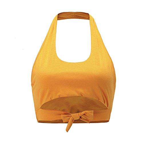 Da Orange Maniche Canotte Moretime Top E Donna T Sportiva Senza shirt Con WYBWU0Rwq