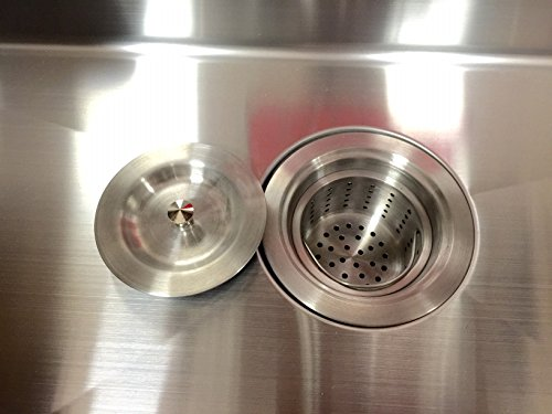 Kitchen Sink Stainless Steel Drain Assembly With Installation Tool