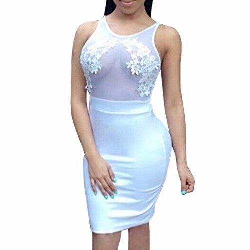Qiyun - Vestido para mujer Blanco