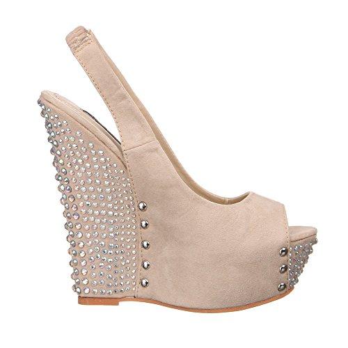 Ital-Design - Sandalias de vestir de Material Sintético para mujer Beige - beige