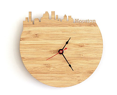 Houston Skyline Clock