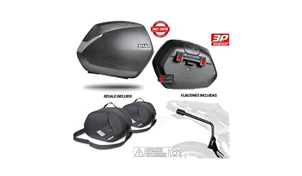 SHAD - KIT-SHAD-53 : Kit fijaciones 3P system y maletas laterales + bolsas internas regalo SH36: Amazon.es: Coche y moto