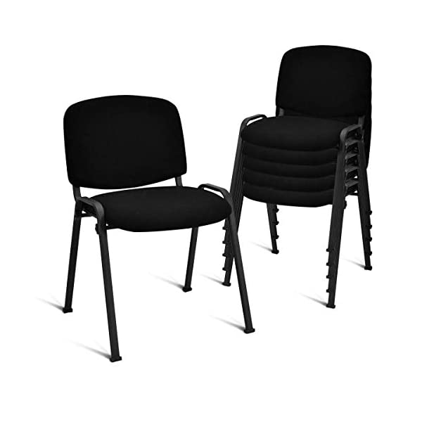 Giantex Set of 5 Conference Chair Elegant Design Stackable Office Waiting Room Guest...