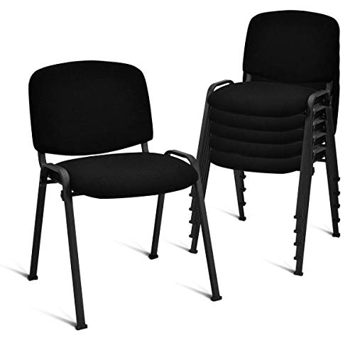 Giantex Set of 5 Conference Chair Elegant Design Stackable Office Waiting Room Guest Reception (Stacking Guest Chair)