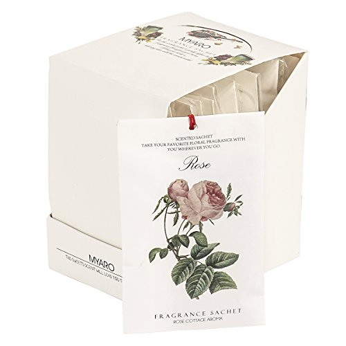 [Best Gift] MYARO 12 Packs Rose Scented Sachets for Drawer and Closet MR-01 (Mini Sachet)