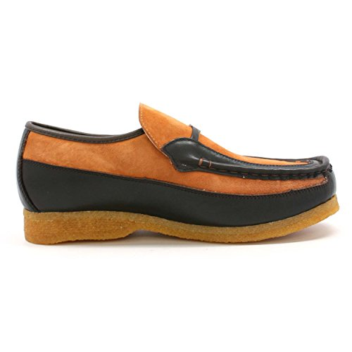 Slip Collection Inglese Old School Slip On Scarpe Ruggine / Marrone